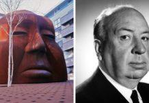 Альфред Хічкок і його статую