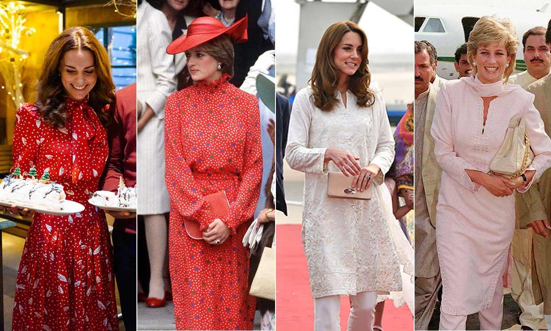 Кейт Миддлтон отдает дань уважения принцессе Диане, выбрав смелый наряд