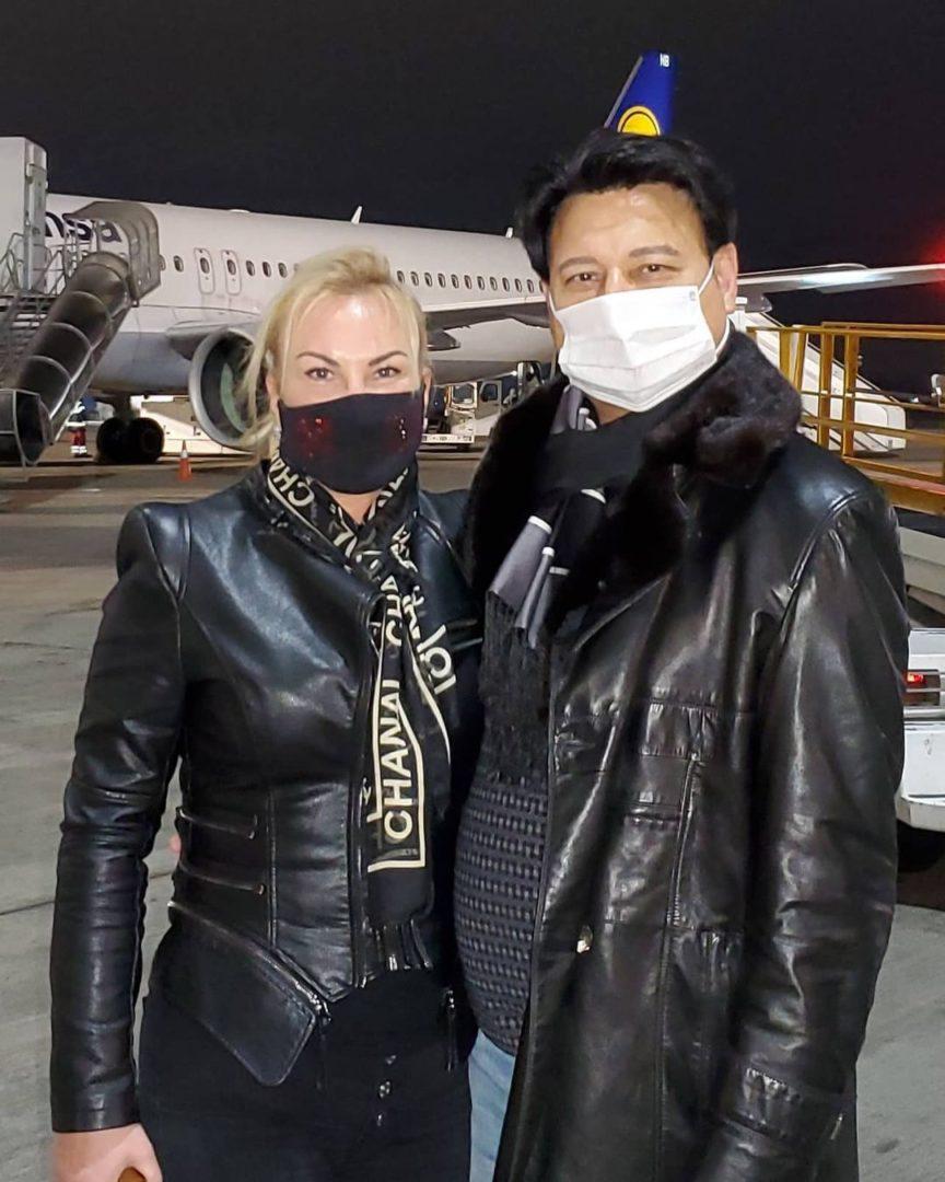Камалия с мужем по возвращению в Украину