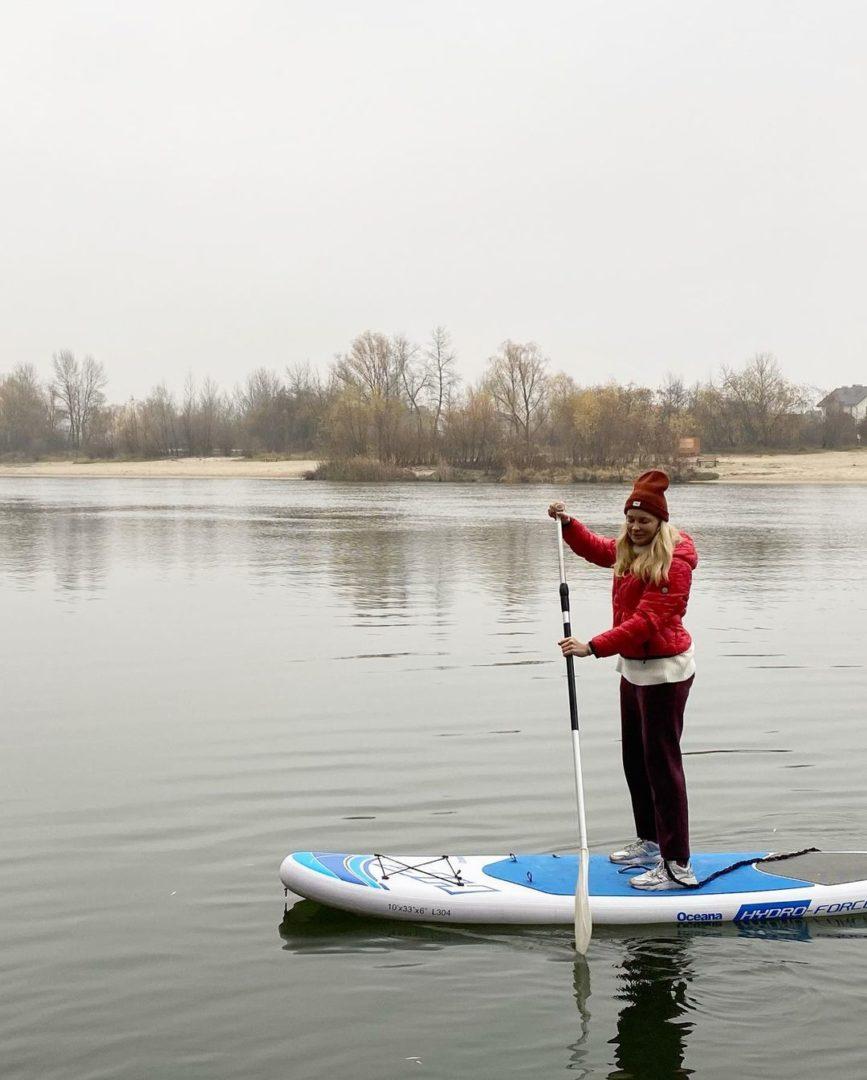 Лідія Таран на воді