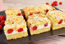 Пиріг з йогуртом і ягодами