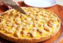 Пісочний пиріг з плавленими сирками
