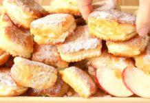 Сирні пампушки з яблуками