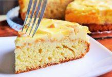 Яблучний пиріг з сирною заливкою