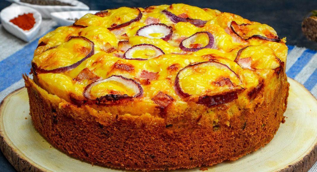 Закусочный пирог с беконом