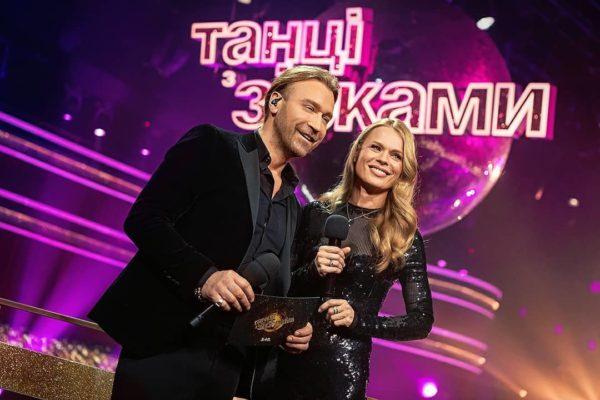 Олег Винник и Ольга Фреймут на балконе Танцев