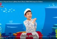 Кадр з кліпу пісеньки про малятко-акулу