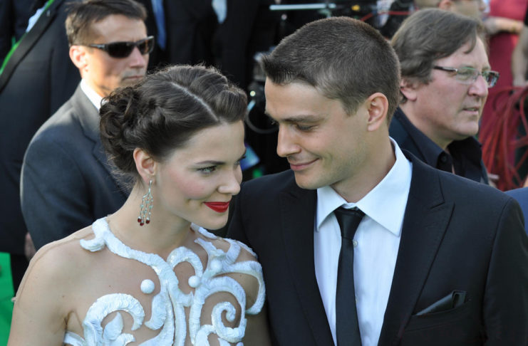 Елизавета Боярская с мужем