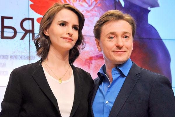Сергей Безруков со второй женой Анной