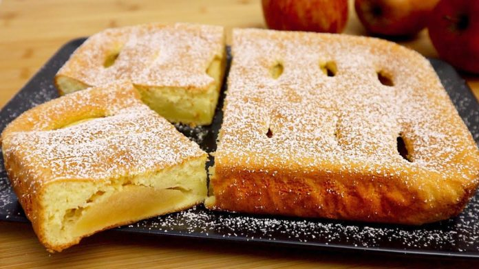 Яблучний пиріг на йогурті