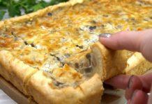 Закусочний пиріг з грибною начинкою