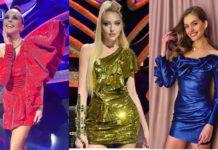Настя Каменських, Оля Полякова та Олександра Кучеренко похвалилися своїми ногами в сукнях