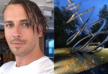 Максим Галкін похвалився сучасним арт-об'єктом у себе на ділянці і розповів про історію цієї скульптури