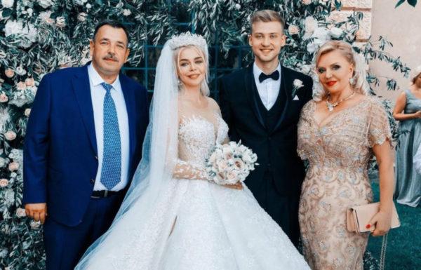 Свадьба Алины Гросу. На фото ее родители и бывший муж