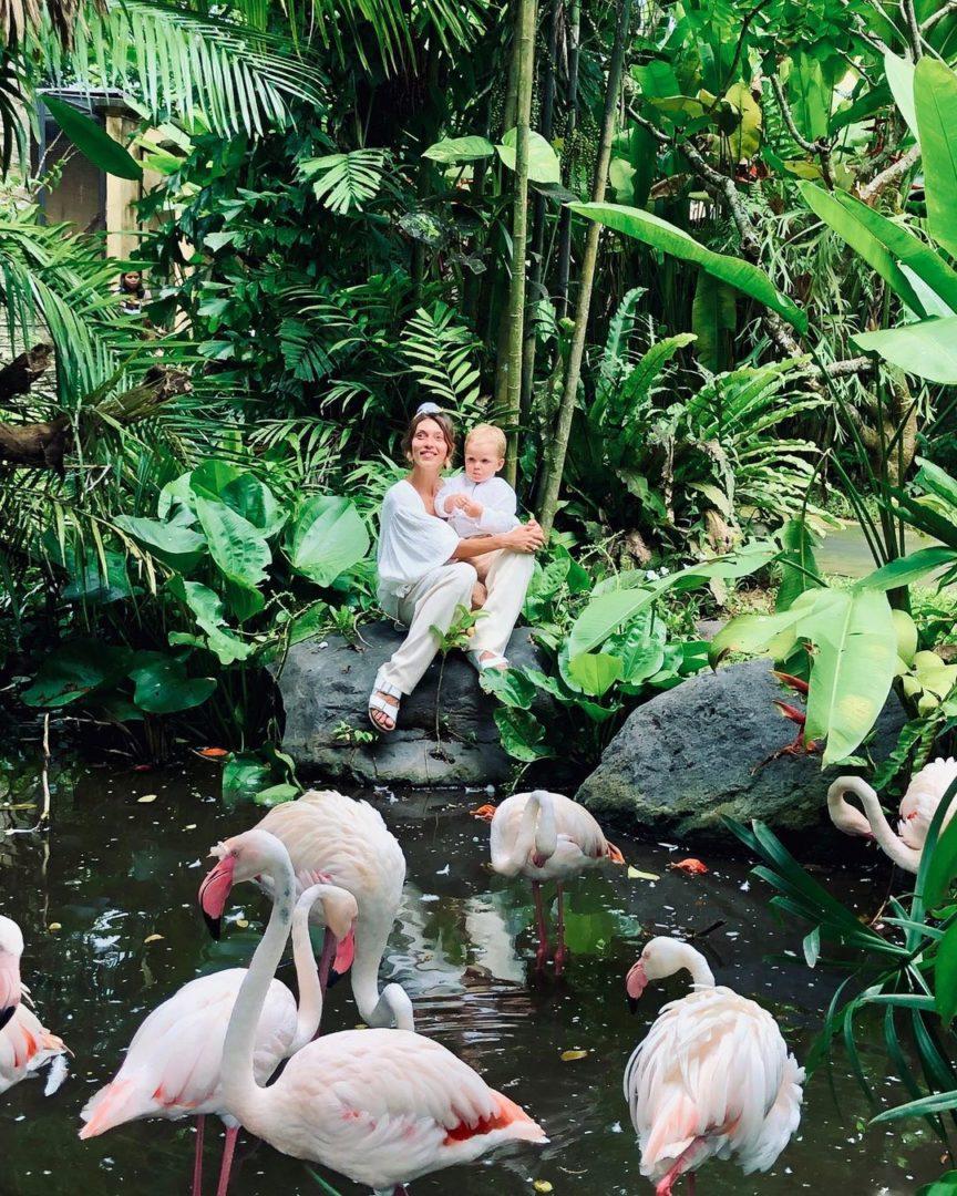 Регина Тодоренко с сыном на Бали