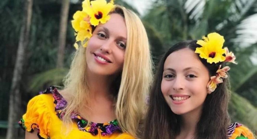 Оля Полякова и дочь Маша