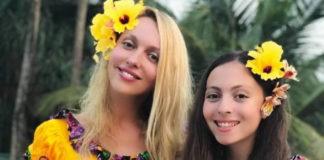 Оля Полякова та дочка Маша