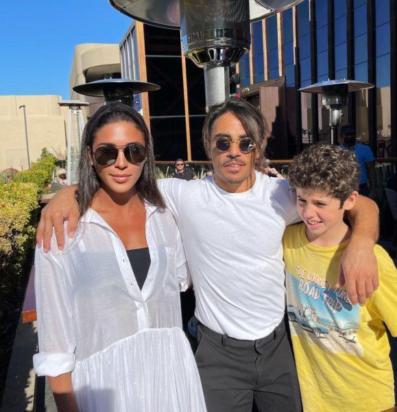 Санта Димопулос, ее сын Даниэль и ресторатор