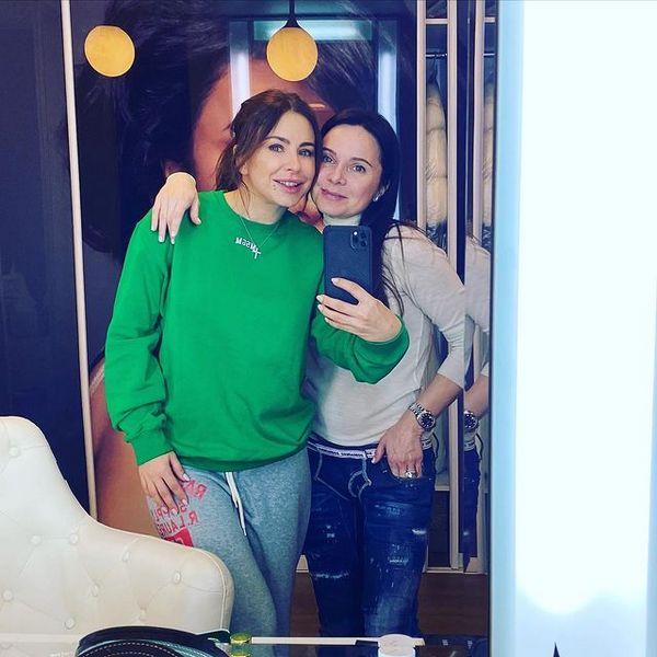 Ани Лорак и Лилия Подкопаева 21.02.21 в Киеве