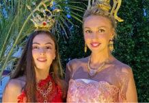 Оля Полякова с дочкой Машей