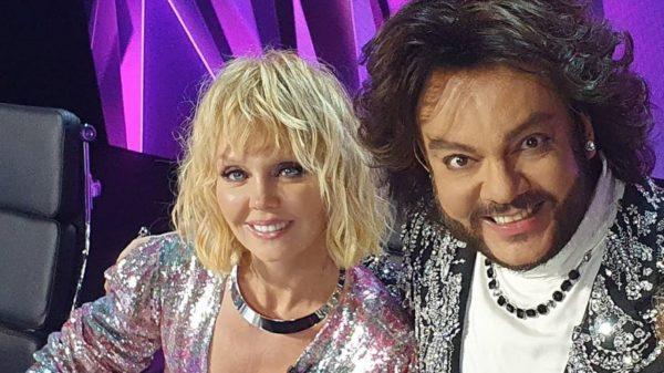 Валерия и Филипп Киркоров в шоу Маска