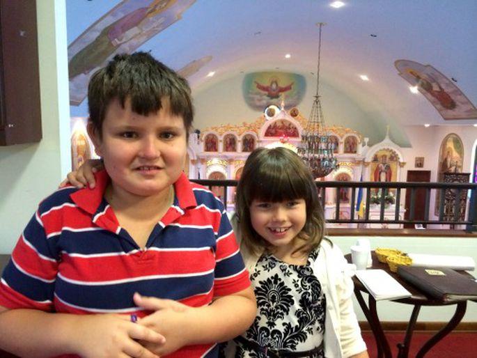 Матвей и Соня - дети Ирины Осауленко