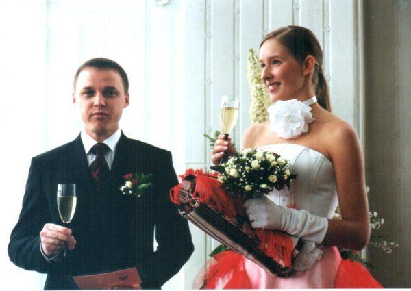 Катя Осадчая с бывшим мужем Олегом Полищуком