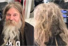 Перукар підстриг бездомного чоловіка