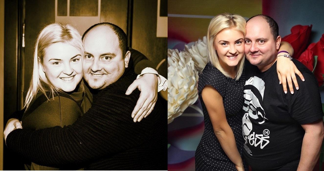 Юрий Ткач с женой до и после похудения