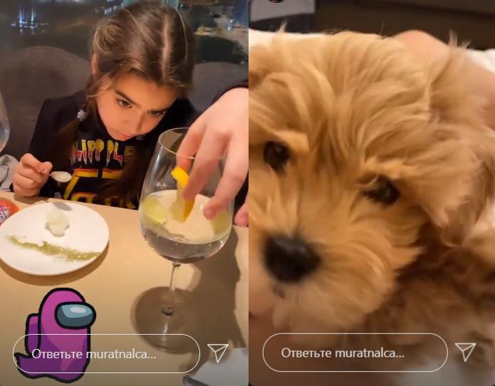 Мурат зводить доньку на вечерю в ресторан, потім вони гралися з новим вихованцем - песиком Тошею