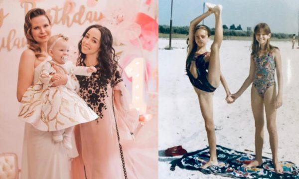 Екатерина Кухар в детстве и молодости - сравнение
