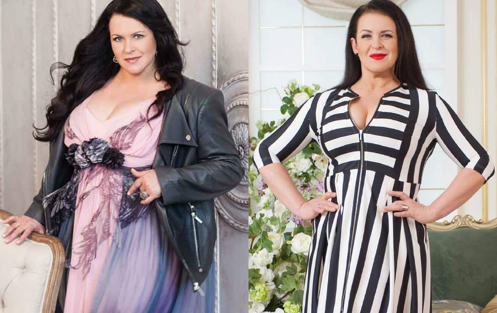 Руслана Писанка до і після схуднення