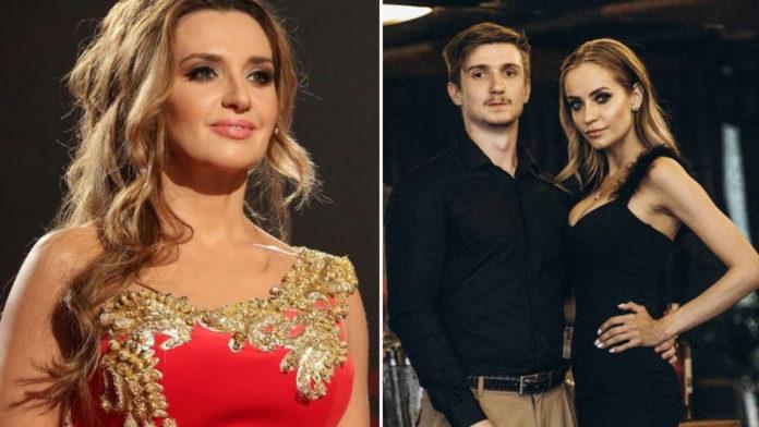 Оксана Марченко, її старший син і невістка