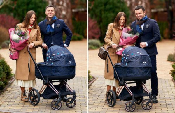 Григорій і Христина Решетник з новонародженим сином на прогулянці