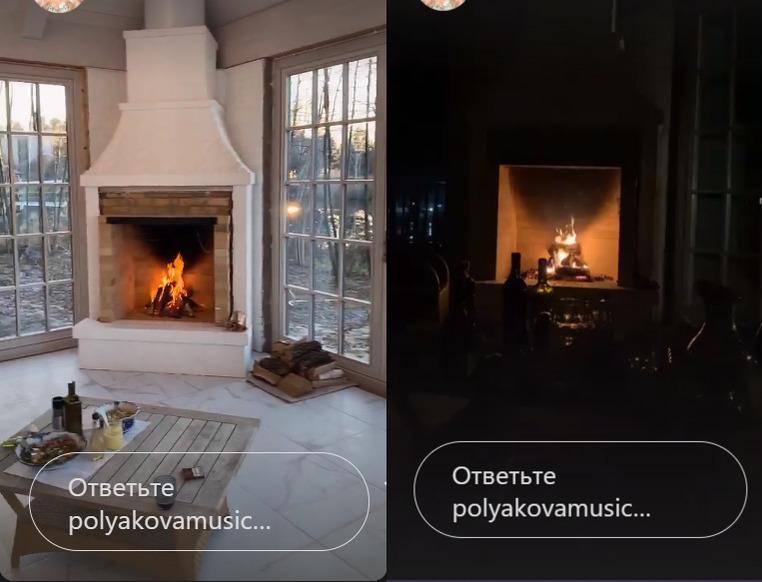 Камін в будиночку Олі Полякової