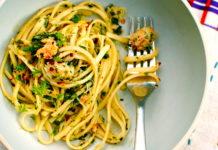 Крабовое спагетти