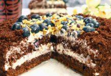Домашний шоколадный торт со сметанным кремом