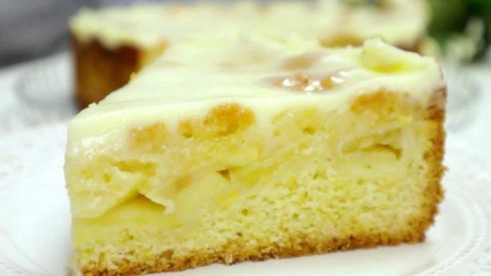 Яблучний пиріг на пісочному тісті