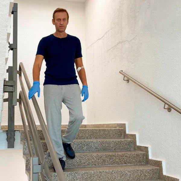 Алексей Навальный на реабилитации