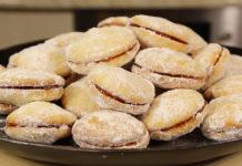 Бисквитное печенье с яблочным повидлом