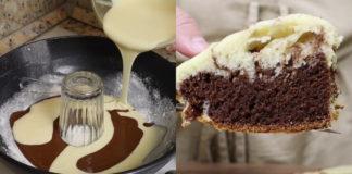 Шоколадно-ванильный кекс без духовки