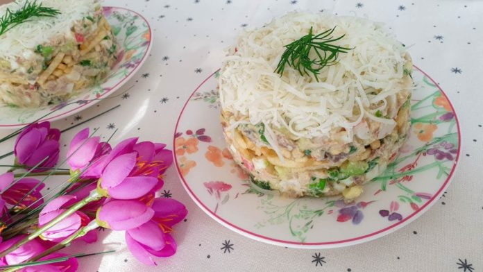 Цікавий салат з оселедцем