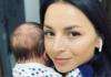 Илона Гвоздева с новорожденным сыном