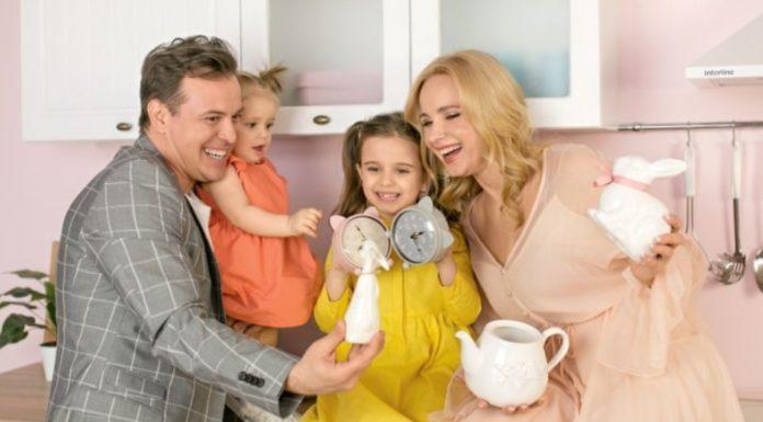 Лілія Ребрик та її сім'я