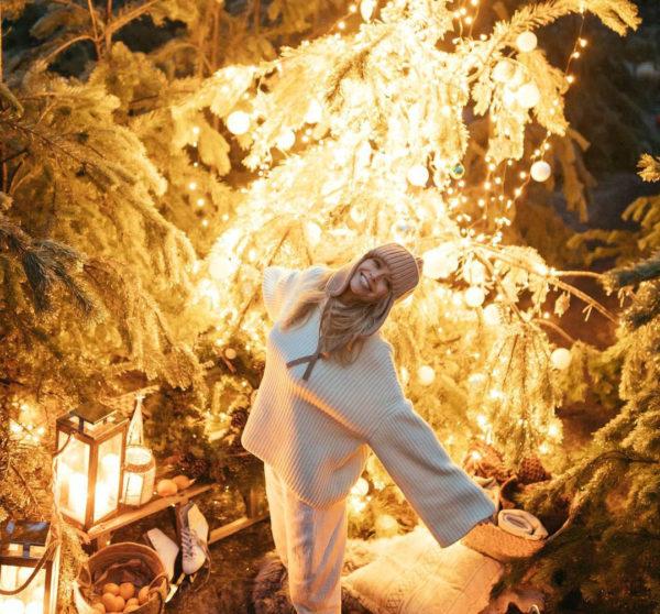 Новогодняя фотосессия Веры Брежневой