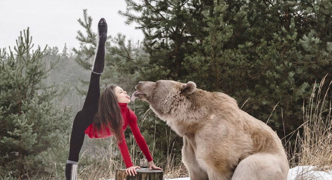 Гимнастка и медведь