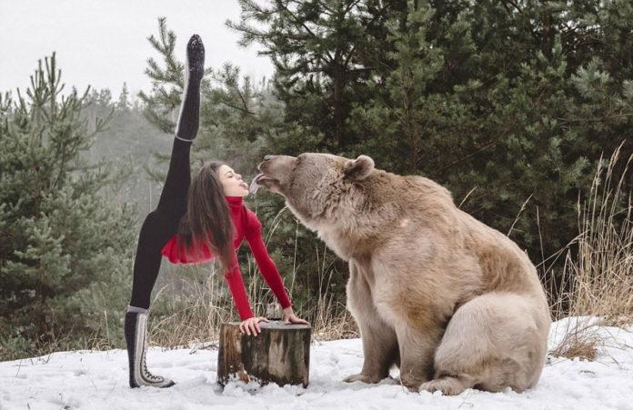 Гімнастка і ведмідь