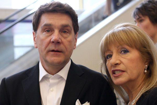 Сергей Маковецкий и его жена