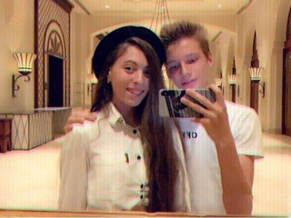 Маша Полякова с парнем