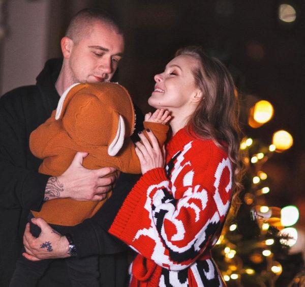 Алена Шоптенко с мужем и сыном